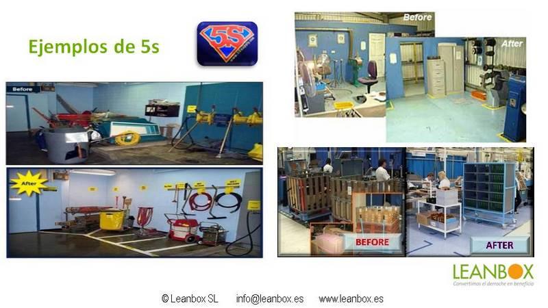 Ejemplos de 5s. Herramienta de Lean Manufacturing
